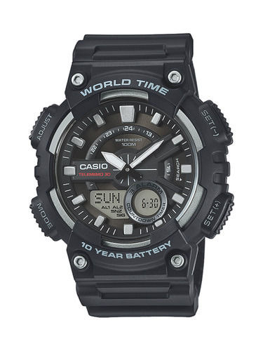 Musta Casio rannekello Heavy Duty Combi collection