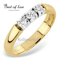Beat of Love timanttirivisormus yht. 0.30 ct