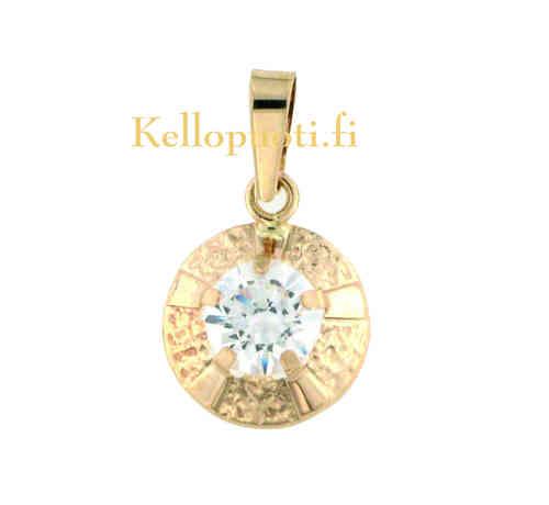 Kultainen riipus kirkkaalla kivellä KKR503 78e0fc2514