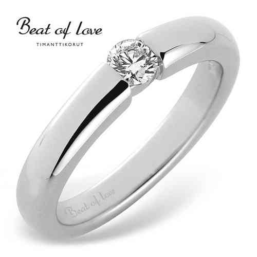 Beat of Love -timanttisormus 0,22 ct