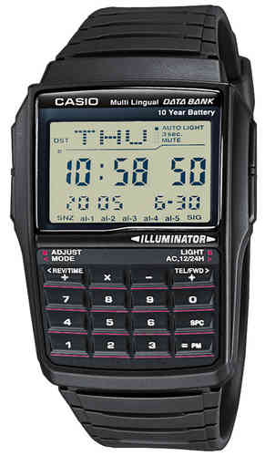 Casio musta Data Bank rannekello *