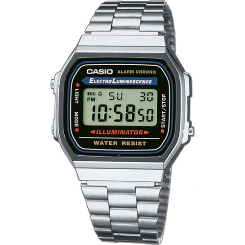 Casio retro teräsrannekello A168WA-1YES*