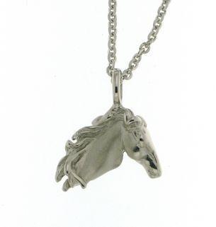 Hopeinen hevosenpää kaulakoru 20 mm Sueno cfe57751d9