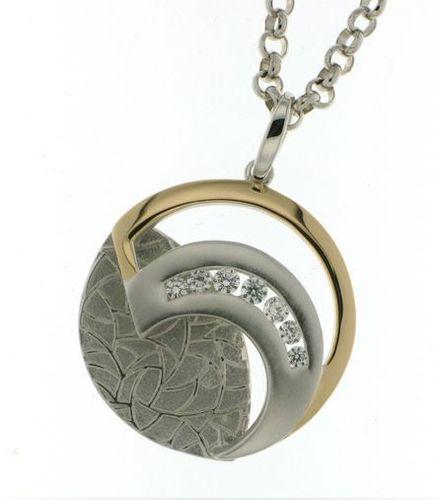 Sueo moderni pyöreä hopeariipus rosekullattu MP1670P 4322752b7f