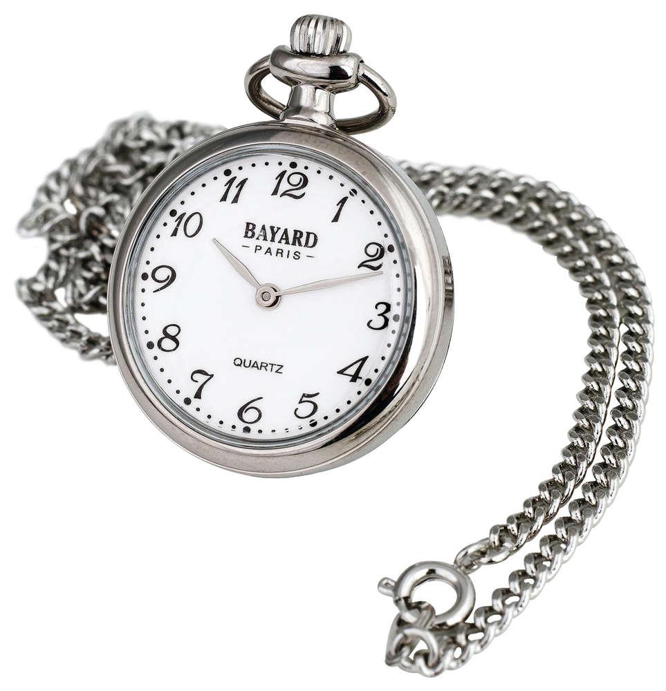 Bayard kaulakello selkeällä kellotaululla hopea - Kellopuoti.fi 7c9ba45fd1