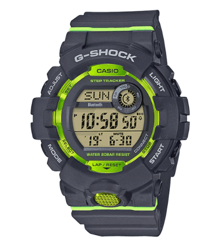 G-Shock G-Squad digital GBD-800-8ER Bluetooth + Step Tracker