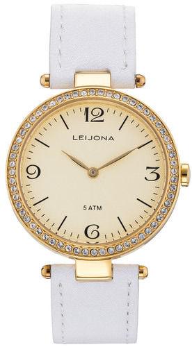 Leijona nahkaranteinen valkea naisten rannekello 5120-4247 b4ce67f593
