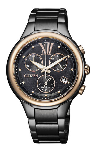 Citizen musta naisten chrono Eco-Drive FB1317-53E
