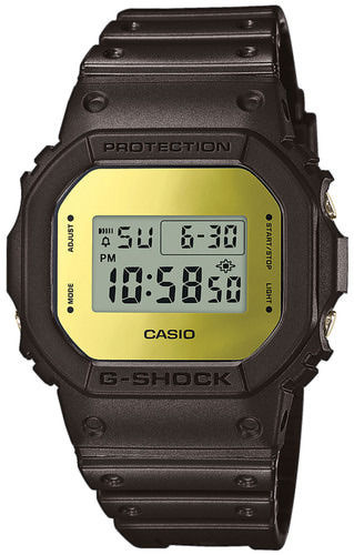 "Casio G-Shock ""neliö"" rannekello musta-kulta 35th Limited DW-5600BBMB-1ER"