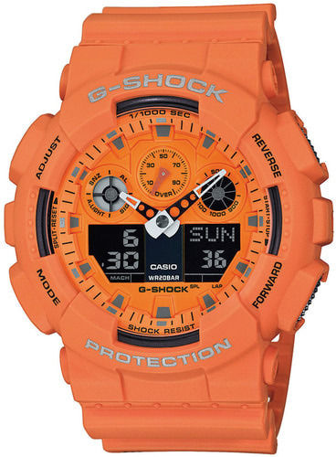 Casio G-Shock Hot Rock Sounds oranssi rannekello GA-100RS-4AER