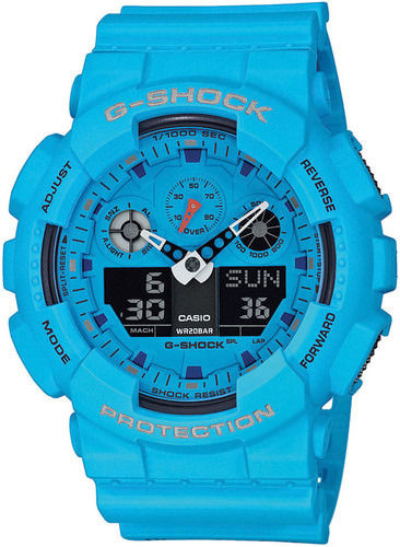 Casio G-Shock Hot Rock Sounds sininen rannekello GA-100RS-2AER