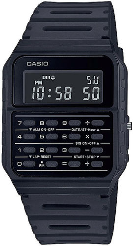 Casio Back To The Future rannekello mustalla rannekkeella*