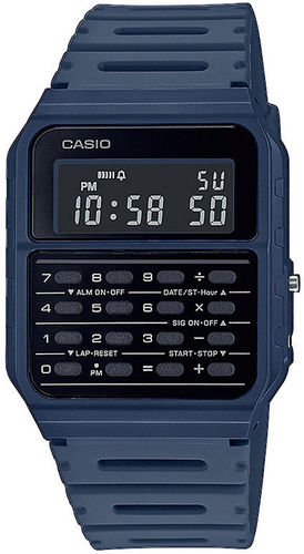 Casio Back To The Future rannekello tummansinisellä rannekkeella
