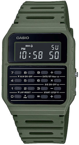 Casio Back To The Future rannekello vihreällä rannekkeella